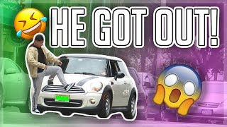 INVISIBLE BOX PRANK!! (GUY GETS OUT OF CAR!!)