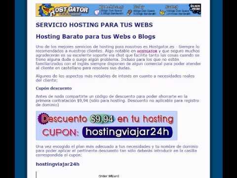 CUPON hostingviajar24h - Hostgator coupons  - First month FREE