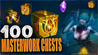 NEW MASTERWORK CHESTS 100+ OPENING - New Hextech Chests - League of Legends
