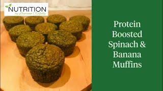 Protein Boosted Spinach & Banana Muffins