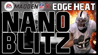 Madden 17: Nickel 2-4-5 - Buck Slant 3 - 4 Man Edge Heat! Fast/Easy Set-Up! Nano Blitz!