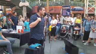 Beat box at city walk in Hollywood California  awesome show!