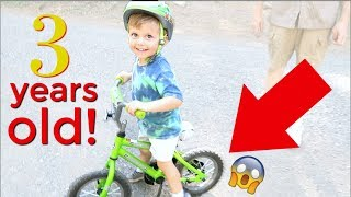 3 YEAR OLD with NO TRAINING WHEELS!!!!