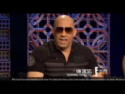 Vin Diesel, Michelle Rodriguez & Jordana Brewster talk about Paul Walker @ FAST & FURIOUS 7 Trailer