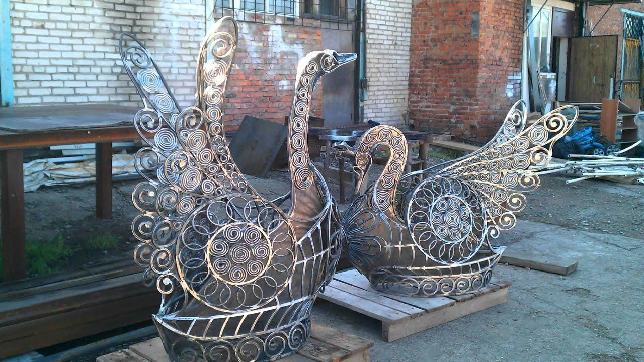 Лебедь из металла своими руками 24