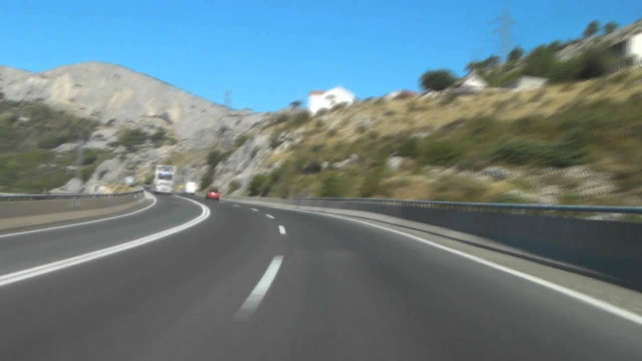 Dugopolje Croatia  city photo : Croatia: Split Dugopolje motorway A1 YouTube
