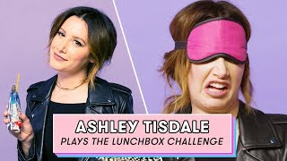 Ashley Tisdale Tries to Guess Vegan Snacks | Lunchbox Challenge