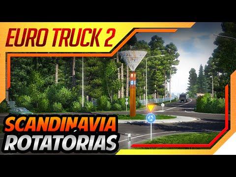 Euro Truck Simulator 2 - Viagem na DLC Scandinavia - Novas Rotatórias
