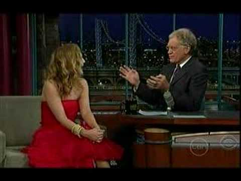 Drew Barrymore on Letterman