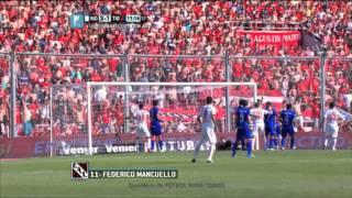 Gol de Mancuello.Independiente 3 Tigre 1.Fecha 13.Torneo Primera División 2014.FPT