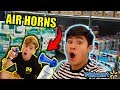 WALMART FORT with Air Horns!! (KICKED OUT)