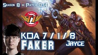 SKT T1 Faker JAYCE vs ZOE Mid - Patch 8.14 KR Ranked