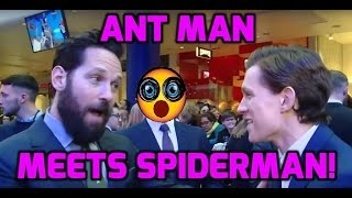 Captain America premiere: Ant-Man meets Spider-Man for the first time!
