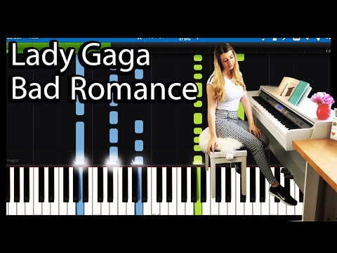 Lady Gaga - Bad Romance - Piano Tutorial (Synthesia)