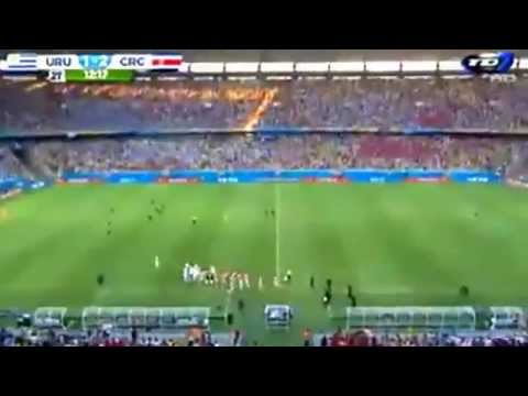 Costa Rica 3 Uruguay 1 (narración Kristian Mora)