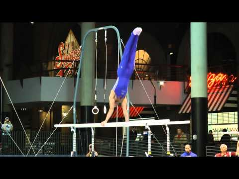 Danell Leyva - Parallel Bars - 2012 Winter Cup Prelims - 16.0
