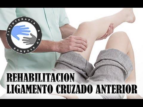 Rehabilitacion del LCA o ligamento cruzado anterior Fase 1, ejercicios y recuperacion
