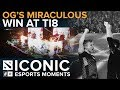 ICONIC Esports Moments OG S Miraculous Win At TI8 mp3