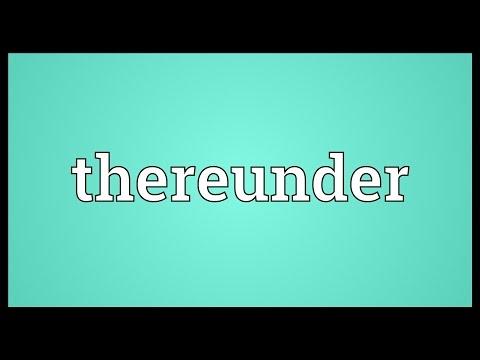 Header of thereunder