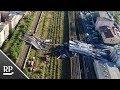 Luftaufnahmen nach Brückeneinsturz in Genua - Suche nach Überlebenden