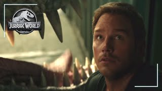 Owen Escapes Scene | Jurassic World: Fallen Kingdom