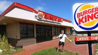 Verlaten BURGER KING Restaurant in AMERIKA..