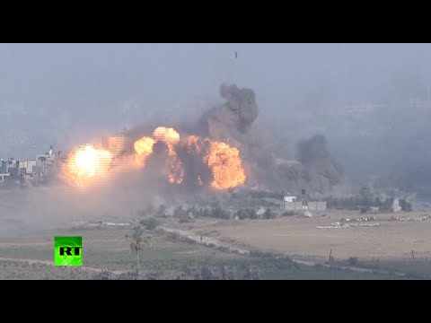 RAW: IDF massive bombing in Gaza minutes before 12hr ceasefire