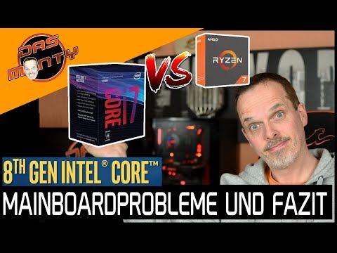 Intel Coffee Lake schlägt AMDs Ryzen 1800X | Mein Fazit + Mainboard-Tricks| DasMonty Deutsch