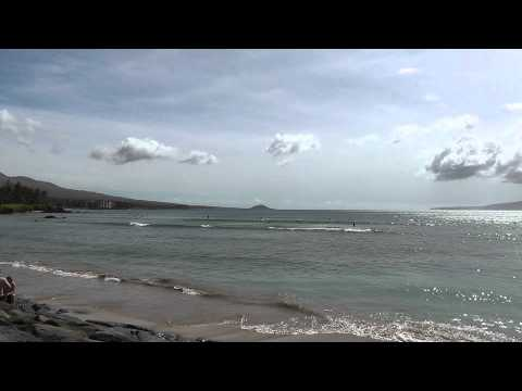 Kalama Beach Park in Kihei Maui HD Video