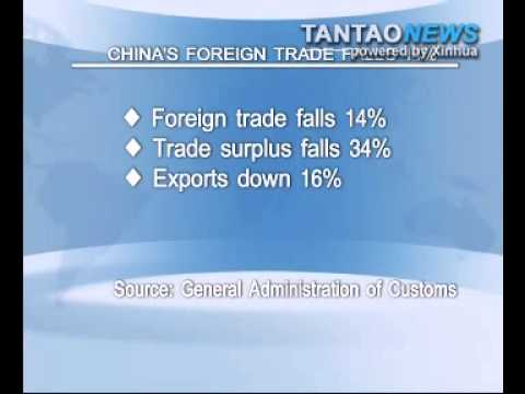 China's Foreign Trade Falls 14%