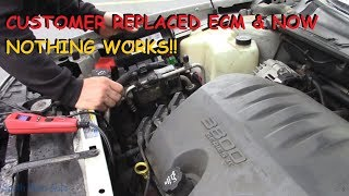 Buick LeSabre: Customer Replaced ECM Now A No Start, No Lights, NO NOTHIN!