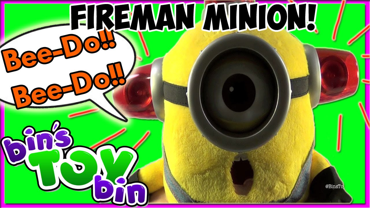 Minion Carl Bee do Talking Bee-do Fireman Minion