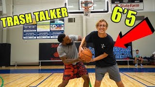 1vs1 AGAINST 6'5 DUNKING TRASH TALKING HIGH SCHOOL  BASKETBALL PLAYER!