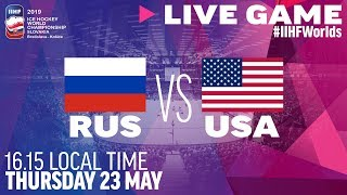 Russia-USA | Quarterfinals | Full Game | 2019 IIHF Ice Hockey World Championship