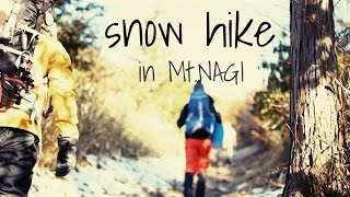 Snow Hike in Mt.NAGI /  雪山登山  岡山県 那岐山 Snow mountain climbing