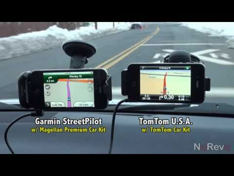 Garmin vs TomTom for iPhone Comparison Video - App Review Music Videos