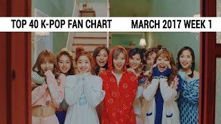 [TOP 40] K-Pop Songs Chart - March 2017 Week 1 Fan Chart
