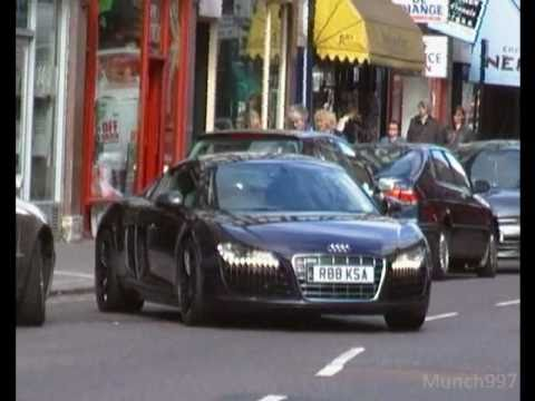 Supercars accelerating in London, crusing and showing off.wmv