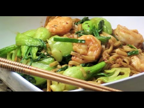 Shrimp And Noodle Stir-Fry- Bok Choy