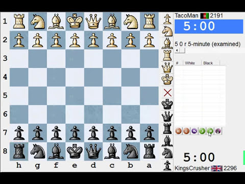 Chess World.net: LIVE Blitz #1750 vs TacoMan (2191) - French: exchange variation (C01)