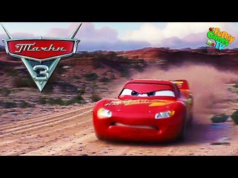 ПЕРВЫЙ ЗАЕЗД По мультику ТАЧКИ 3 детская игра про Молнию Маккуина тачки гонки видео для детей Cars 3