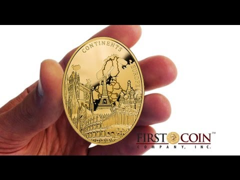 EUROPE - Continents series -First Gold coin in a Series - Mintage JUST 100pcs - 2013 Niue Island 3oz