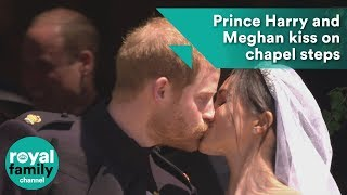 download musica Prince Harry and Meghan kiss on the steps of St George's Chapel after wedding ceremony