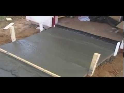 How To Pour A Concrete Ramp Concrete Pad Concrete
