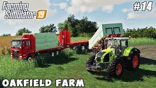 Making and selling silage bales of the grass | Farming on Oakfield Farm | FS 19 | Timelapse #14