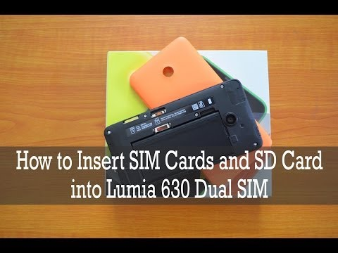 How to Insert SIM Card and microSD Card into Lumia 630 Dual SIM