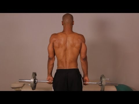 How to Do a Standing Barbell Shrug | Back Workout Image 1