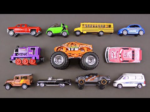 Learning Colors Cars Trucks Street Vehicles for Kids - Hot Wheels Tomica Disney - Organic Learning