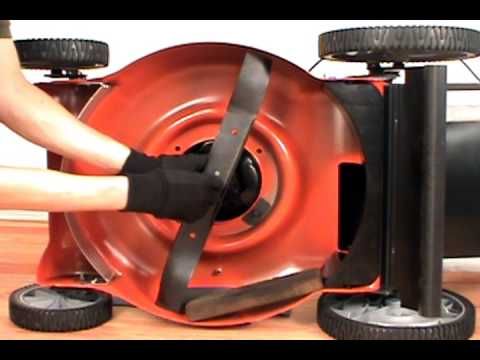 Replacing The Blade Husqvarna Lawn Mower Youtube
