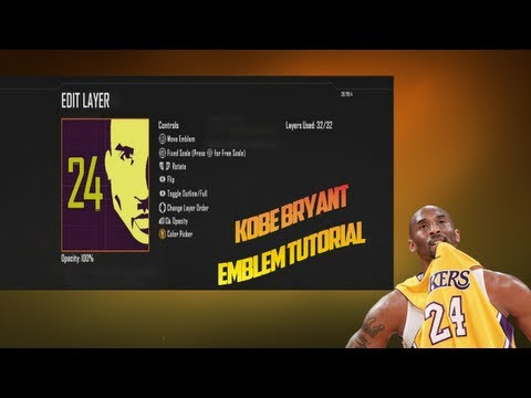 Black Ops 2 - Kobe Bryant | LosAngeles Lakers Emblem Tutorial